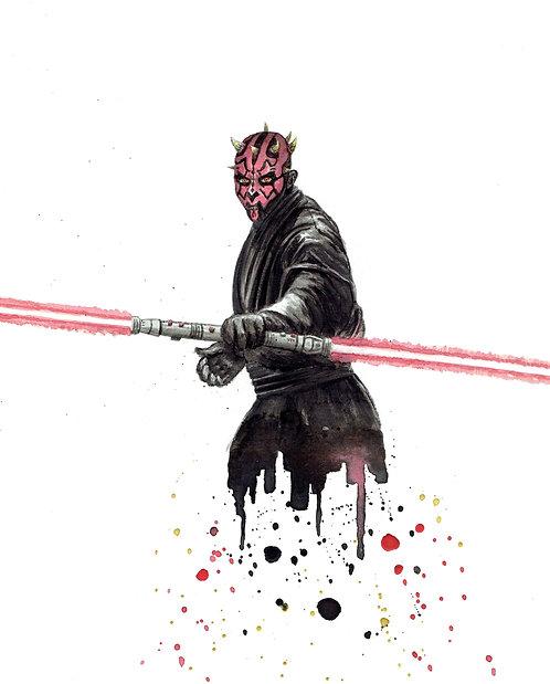 Darth Maul Watercolor Art Print   |   Star Wars