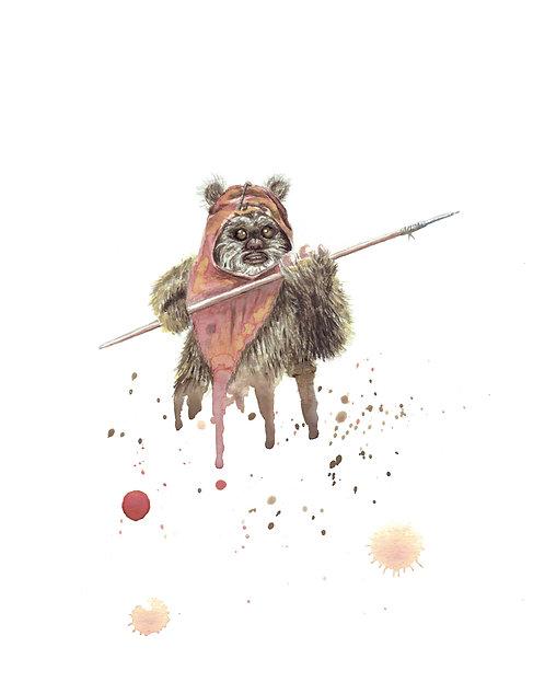 Wicket Watercolor Art Print   |   Star Wars