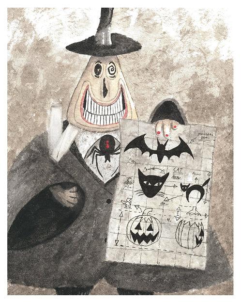 Mayor Watercolor Art Print   |   Nightmare Before Christmas