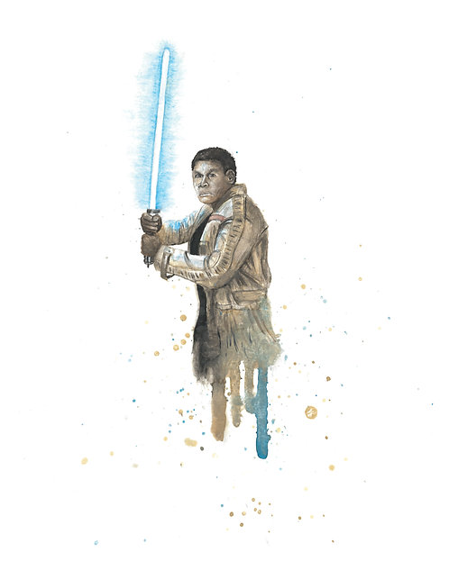 Finn Watercolor Art Print   |   Star Wars