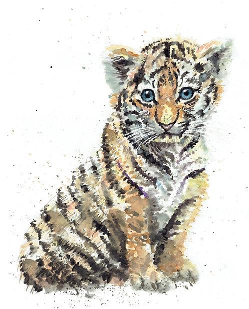 Tiger Watercolor Art Print   |   Animals