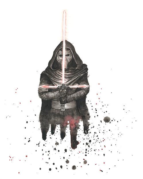Kylo Ren Watercolor Art Print   |   Star Wars