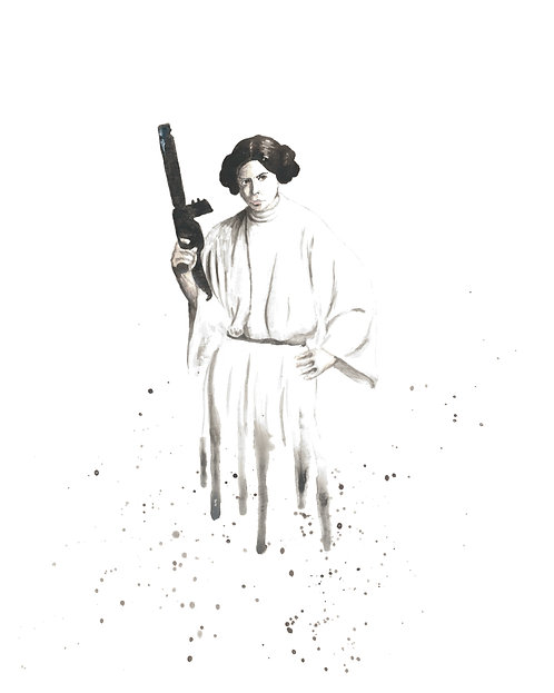Leia Organa Watercolor Art Print   |   Star Wars