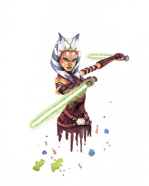 Ahsoka Tano Watercolor Art Print   |   Star Wars