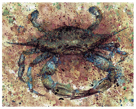 Crab Watercolor Art Print   |   Animals