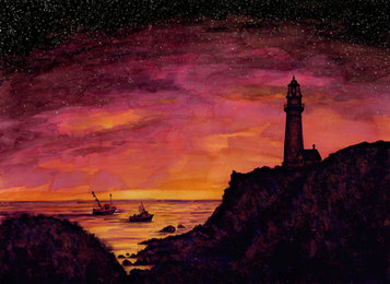 Lighthouse in Pink