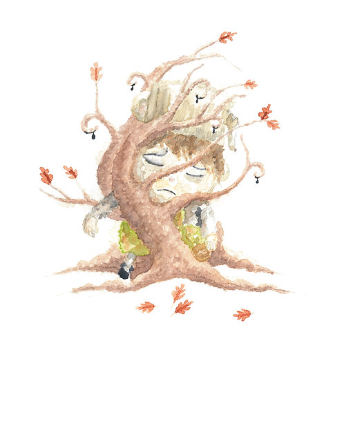 Greg Tree Watercolor Art Print   |   Over the Garden Wall