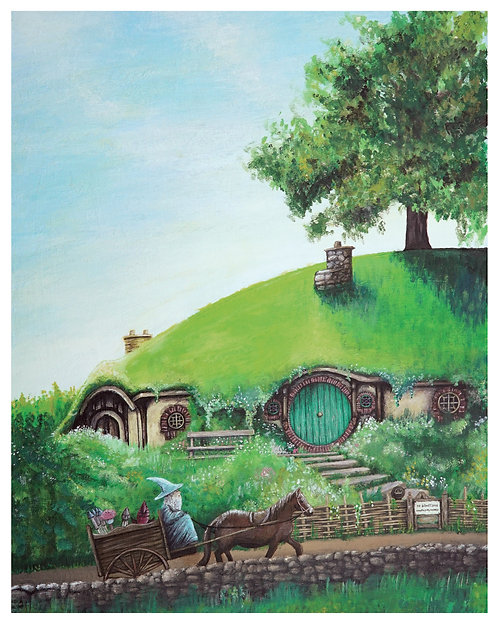 Bag End Acrylic Art Print   |   Lord of the Rings