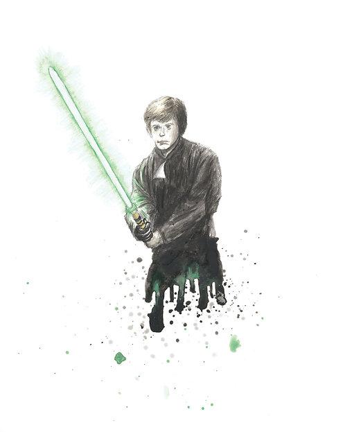 Luke Skywalker Watercolor Art Print   |   Star Wars