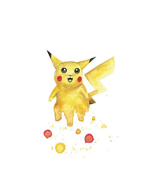 Pikachu Watercolor Art Print   |   Pokemon, Nintendo