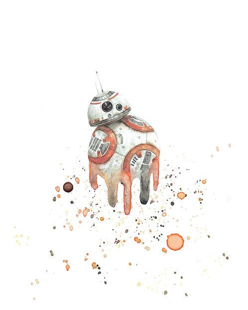 BB-8 Watercolor Art Print   |   Star Wars