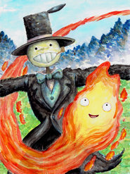 Calcifer and Turnip Head