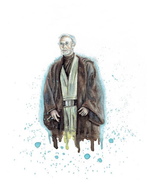 Obi-Wan Kenobi Watercolor Art Print   |   Star Wars
