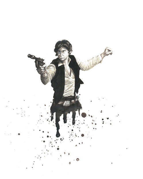 Han Solo Watercolor Art Print   |   Star Wars