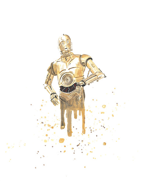 C-3PO Watercolor Art Print   |   Star Wars