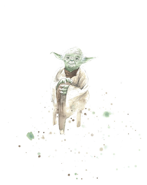 Yoda Watercolor Art Print   |   Star Wars