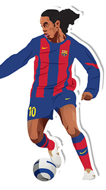 Ronaldinho Sticker - Jamie Orrell
