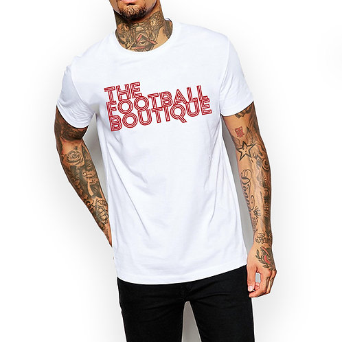 The Football Boutique Tee - White and Red