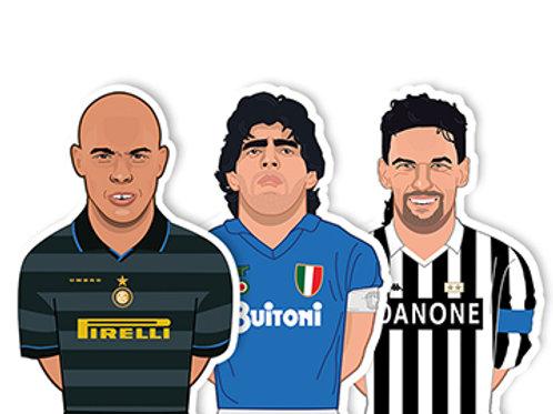 Ronaldo, Maradona, Baggio Sticker Pack - Jamie Orrell