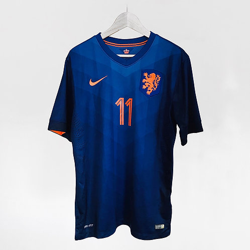 Nike - 2014 Netherlands Robben Authentic Away Jersey