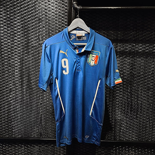 Puma - 2014 Italy Home Jersey Balotelli (L)