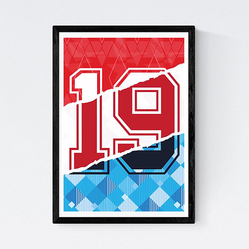 Mark Johnson - 19 Gazza Print