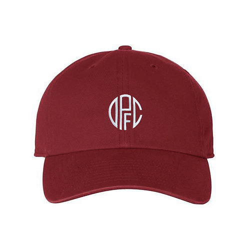 Dirty Pitch FC - DPFC Cardinal Red Dad Hat