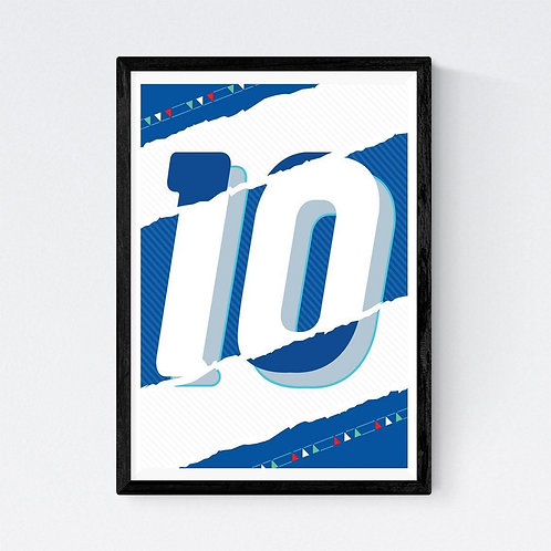Mark Johnson - 10 Baggio Print