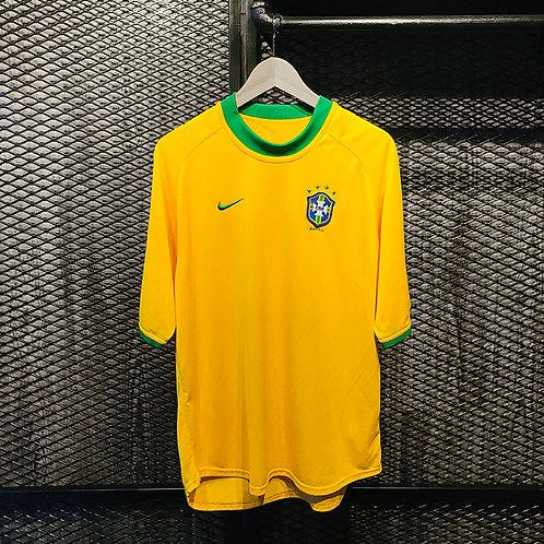 Nike -2000/02 Brazil Home Jersey (L)