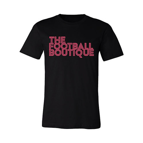 The Football Boutique Tee - Black and Salmon