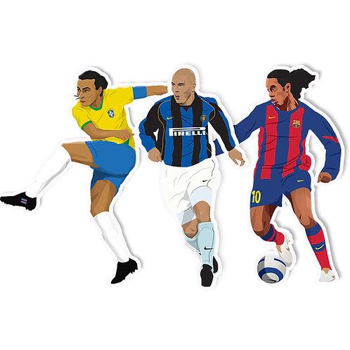 Marta, Ronaldo, Ronaldinho Sticker Pack - Jamie Orrell