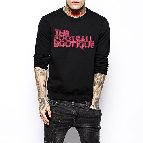 The Football Boutique Crewneck Sweater - Black and Salmon