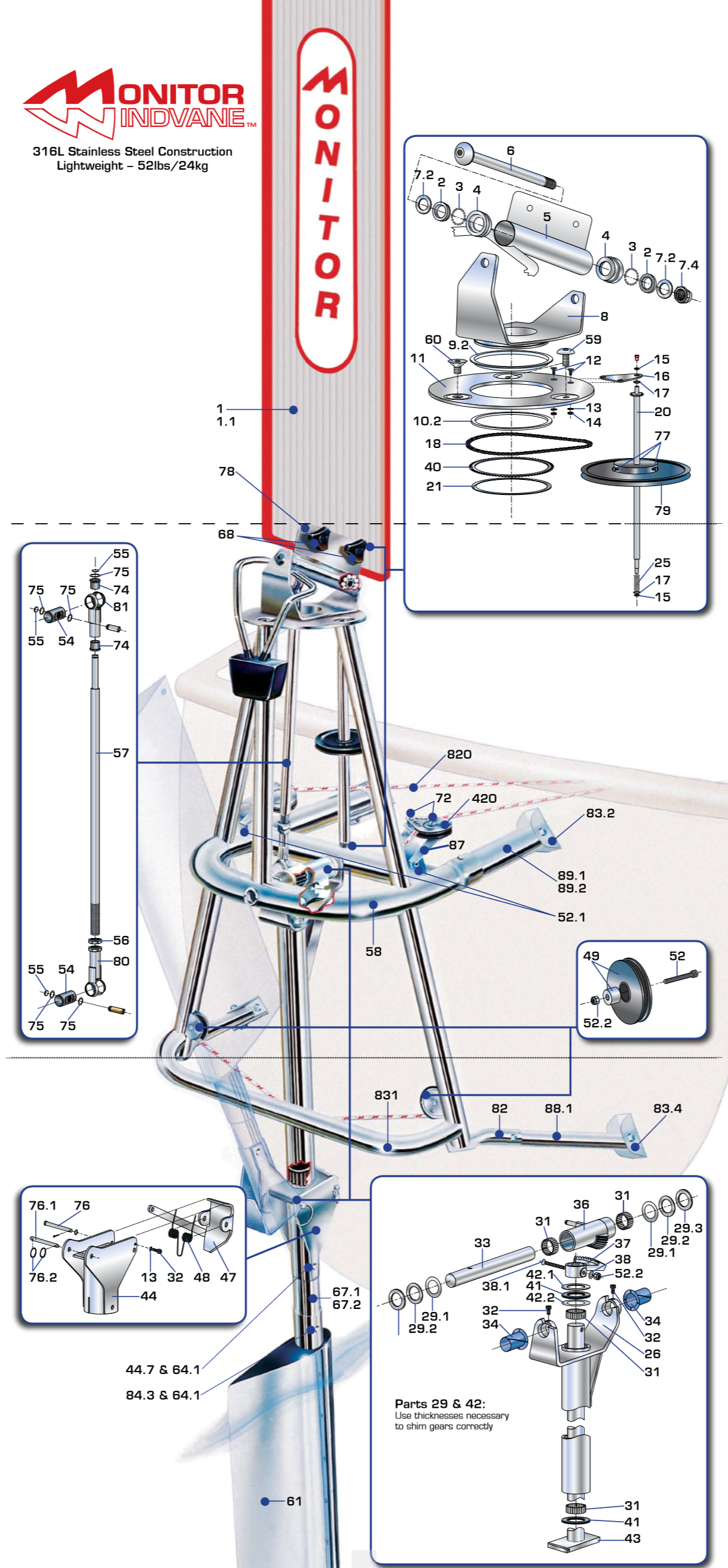 Monitor Master Parts Diagram