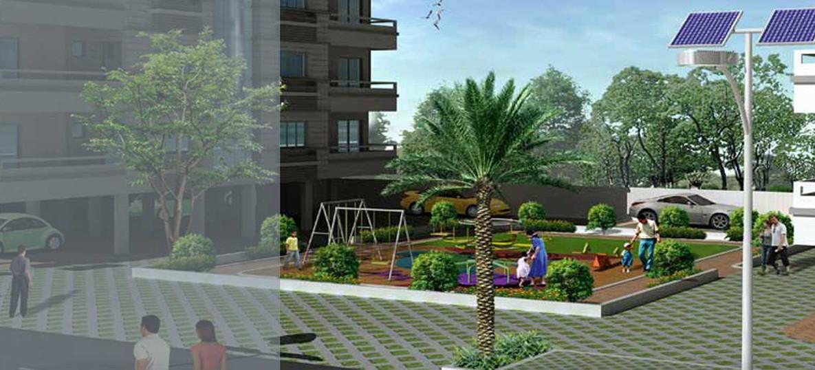 Community garden 3D view