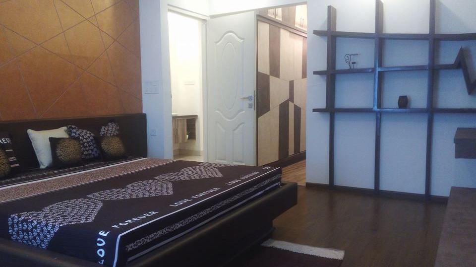 3 BHK Master Bedroom Angle 2