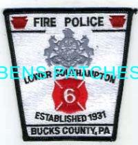LOWER SOUTHAMPTON BUCKS COUNTY PA FIRE POLICE