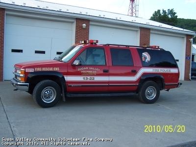 Sugar Valley Community Volunteer Fire Company PA Special Unit 13-22
