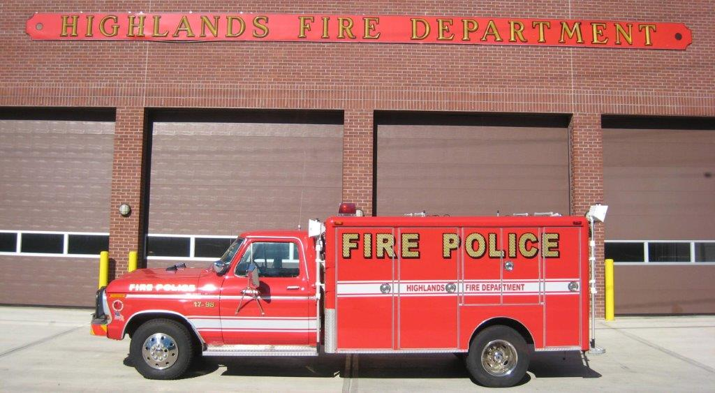 Highlands Fire Department Fire Police 17-98 1