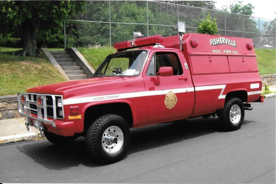 Fisherville Volunteer Fire Company PA old utility 216 Fire Police Unit prior to conversion to brush