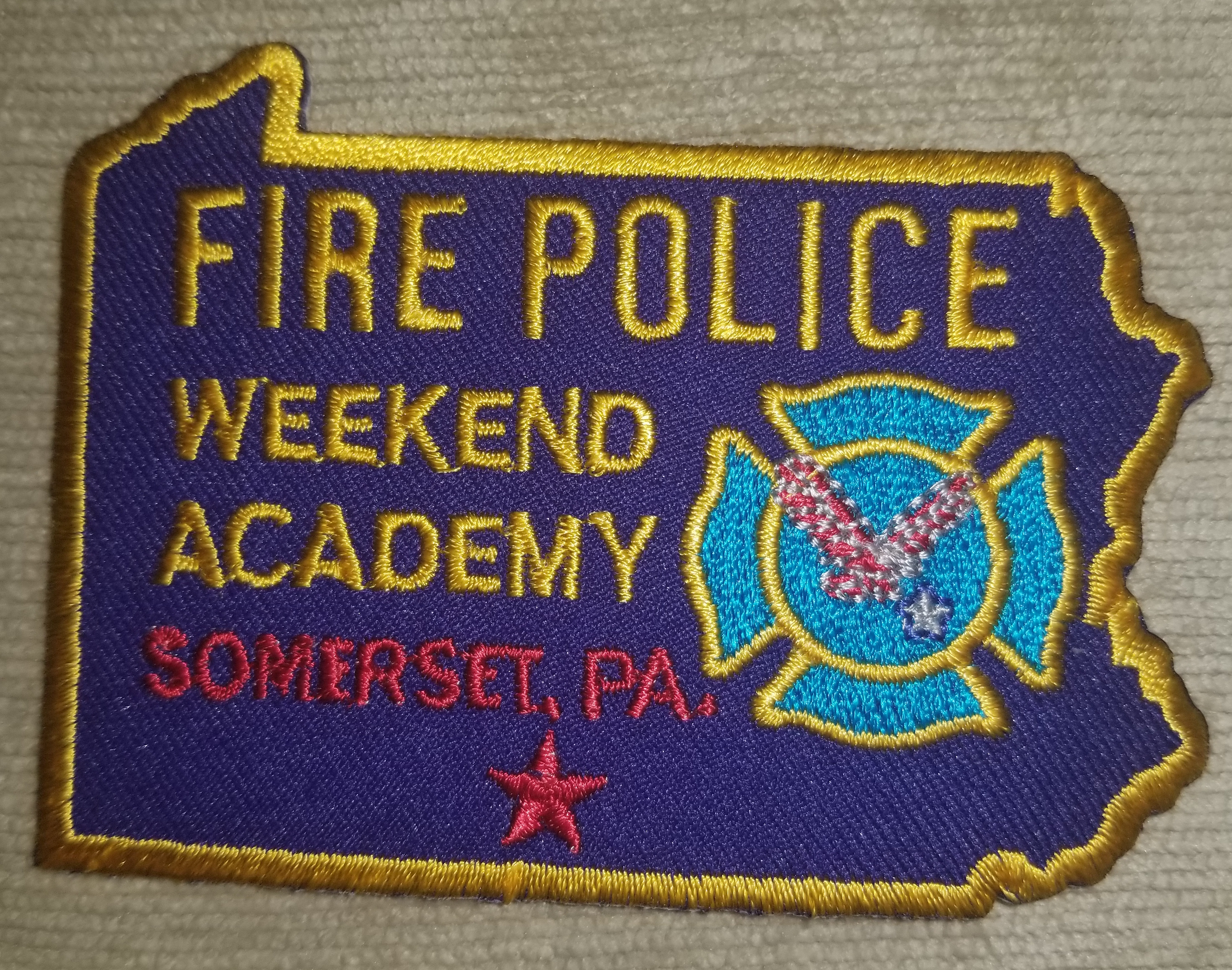 Somerset Fire Police Weekend Academy PA.