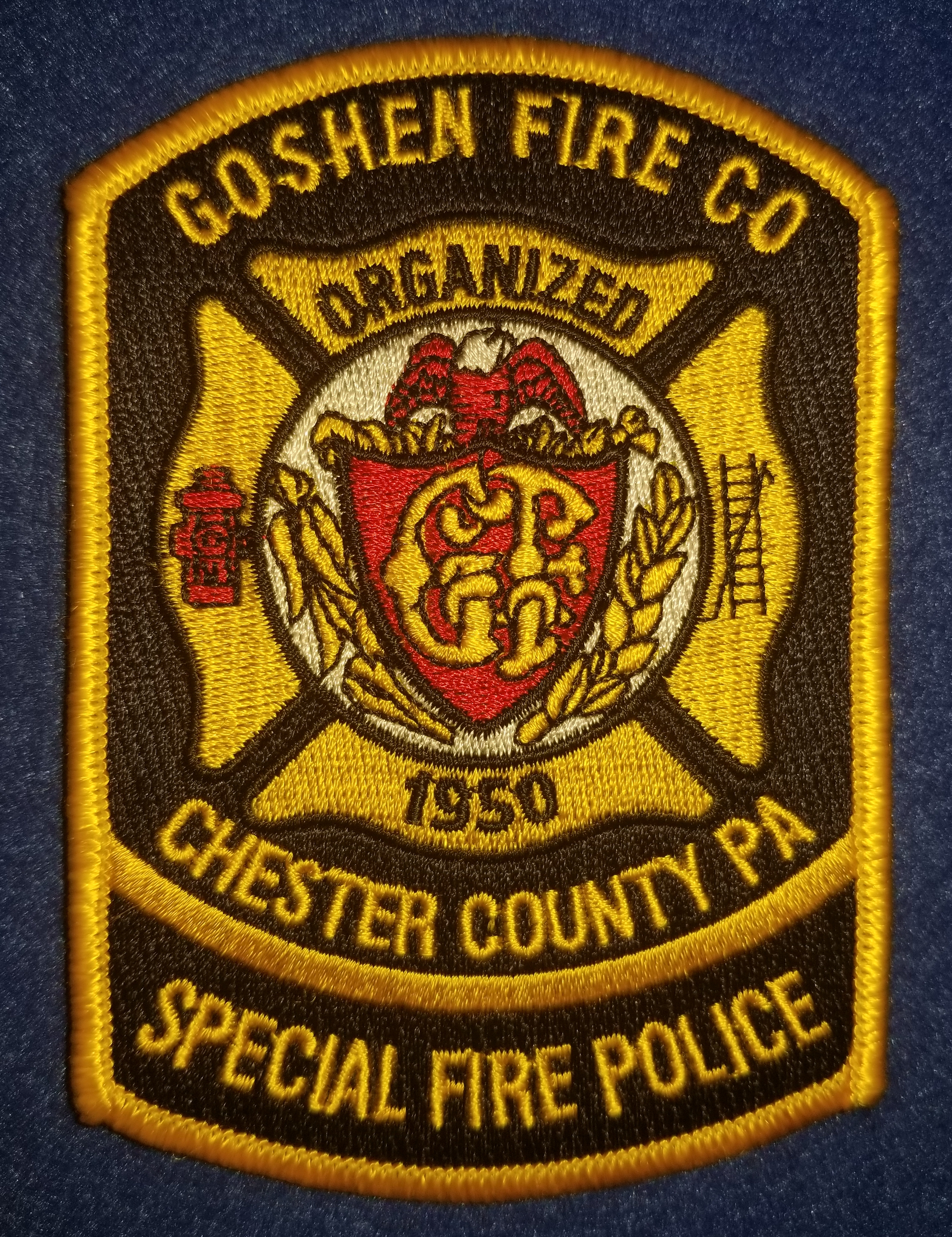 Goshen Fire Co Fire Police Chester Count