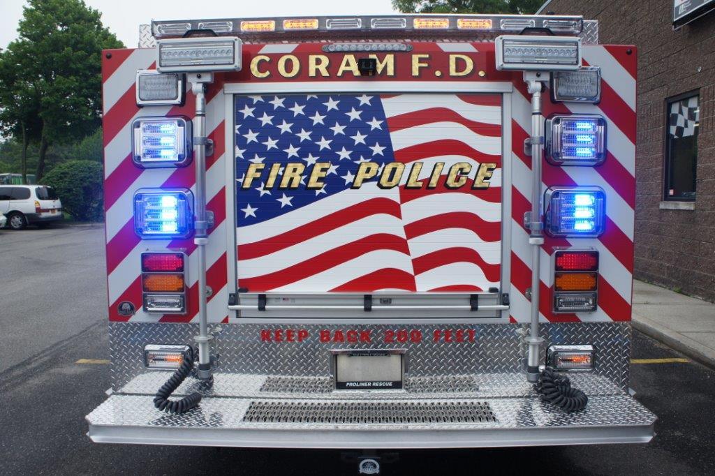 Coram Fire Police NY  5-6-9   13