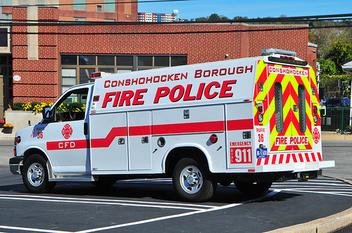 CONSHOHOCKEN Fire Co. PA Special Fire Police Traffic 36
