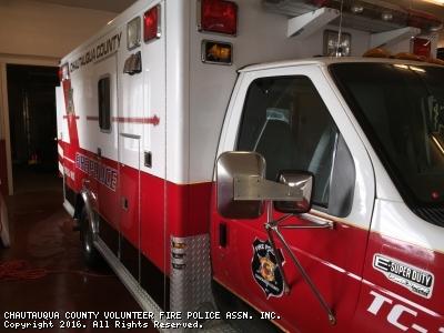 CHAUTAUQUA COUNTY VOLUNTEER FIRE POLICE ASSN. INC. Mayville NY TC-1