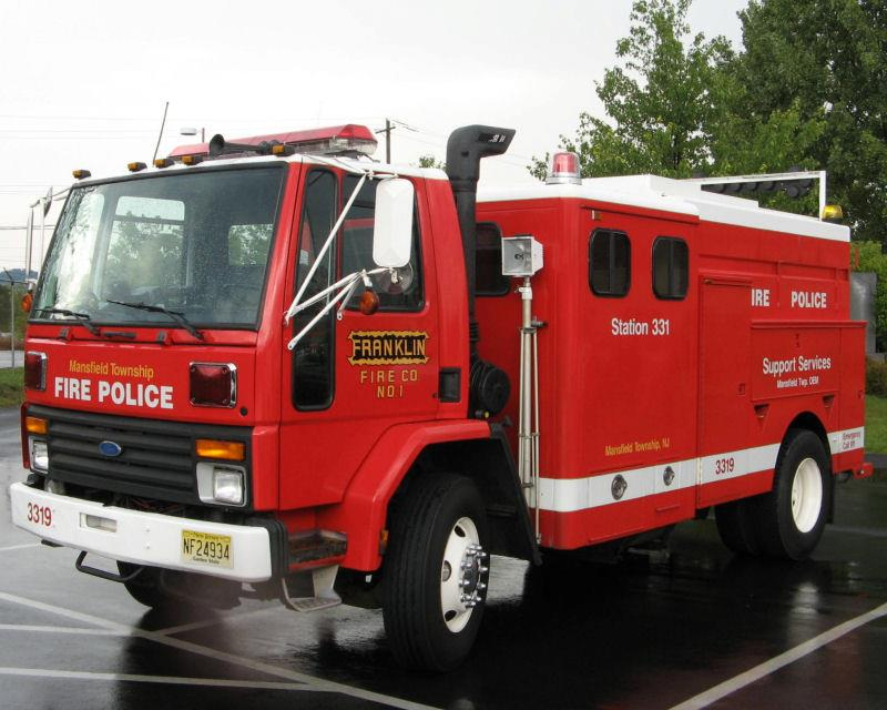 Mansfield Township NJ Franklin Fire Company Fire Police Traffic Unit Station 331