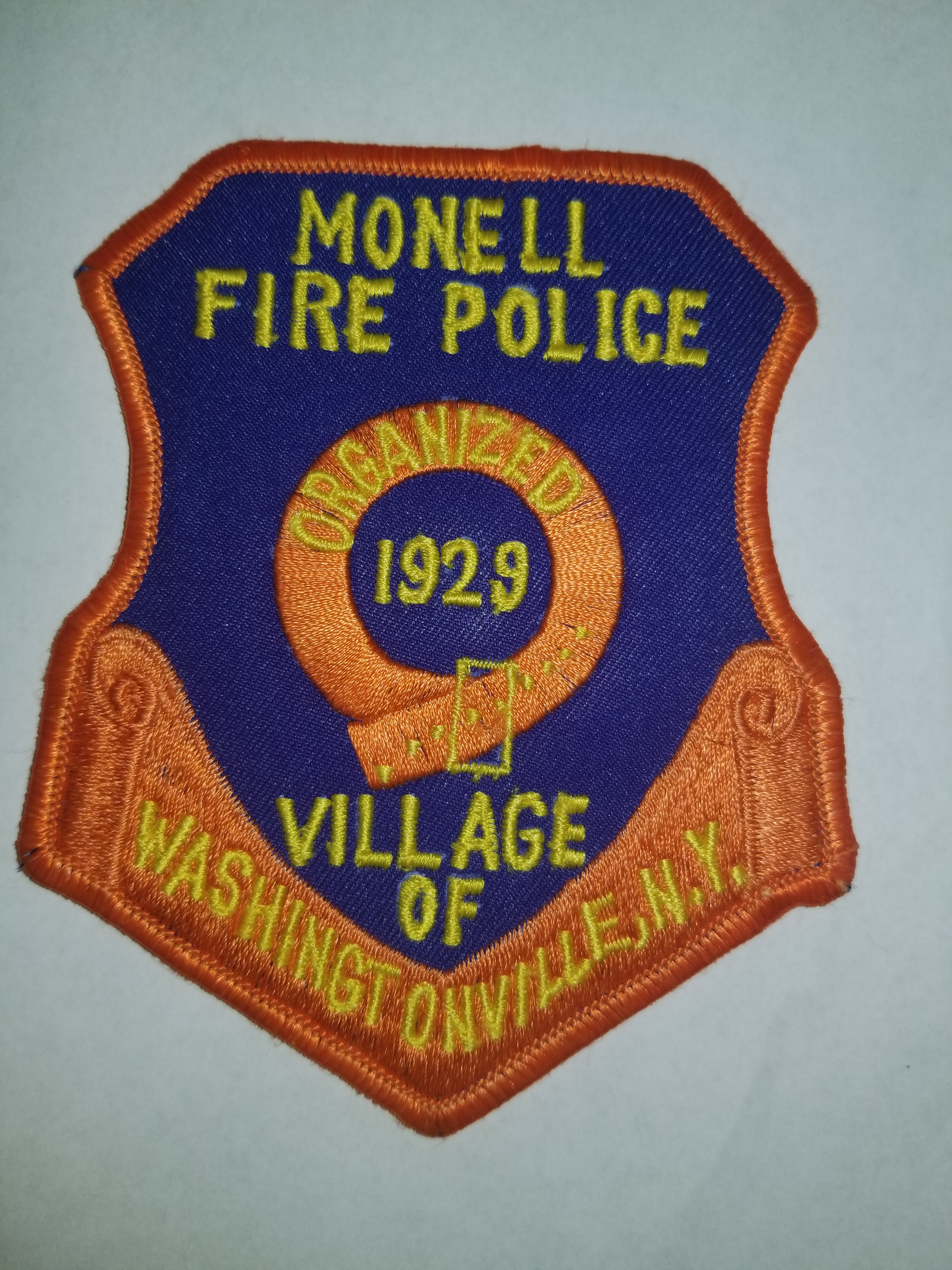 Monell Fire Police Village of Washingtonville NY Fire Police