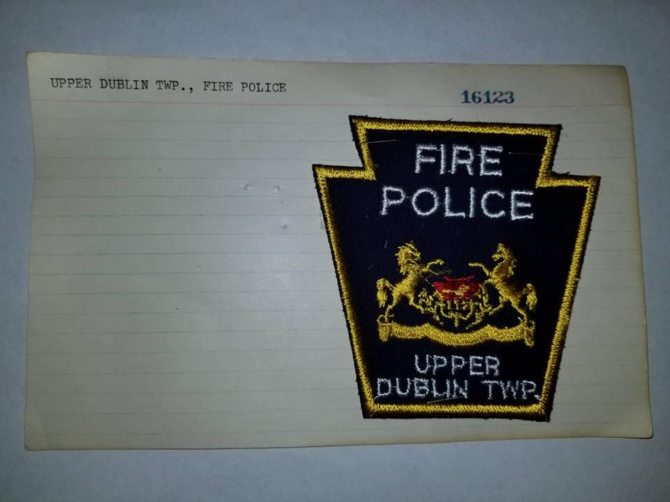 Upper Dublin Township PA Fire Police 1