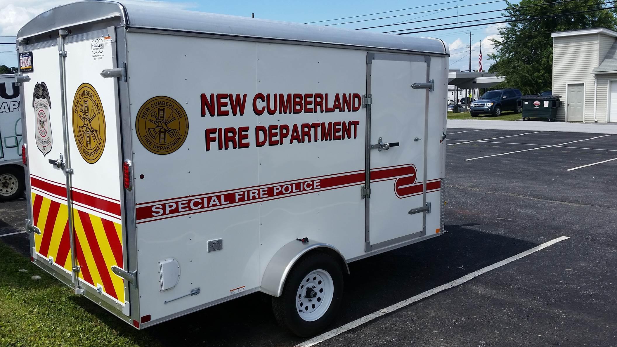 New Cumberland Fire Department PA Traffic Trailer