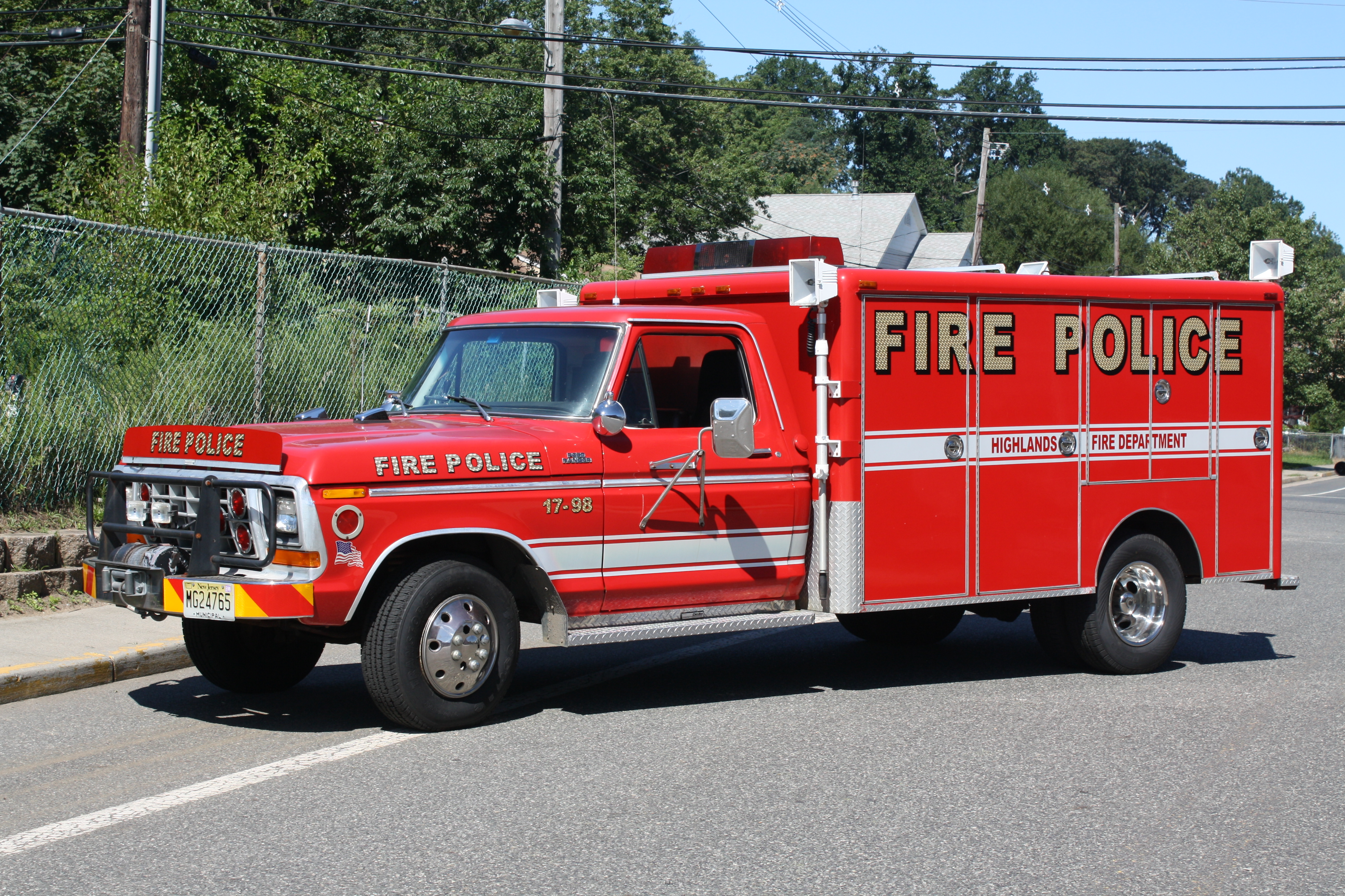 Highlands Fire Department Fire Police 17-98 3