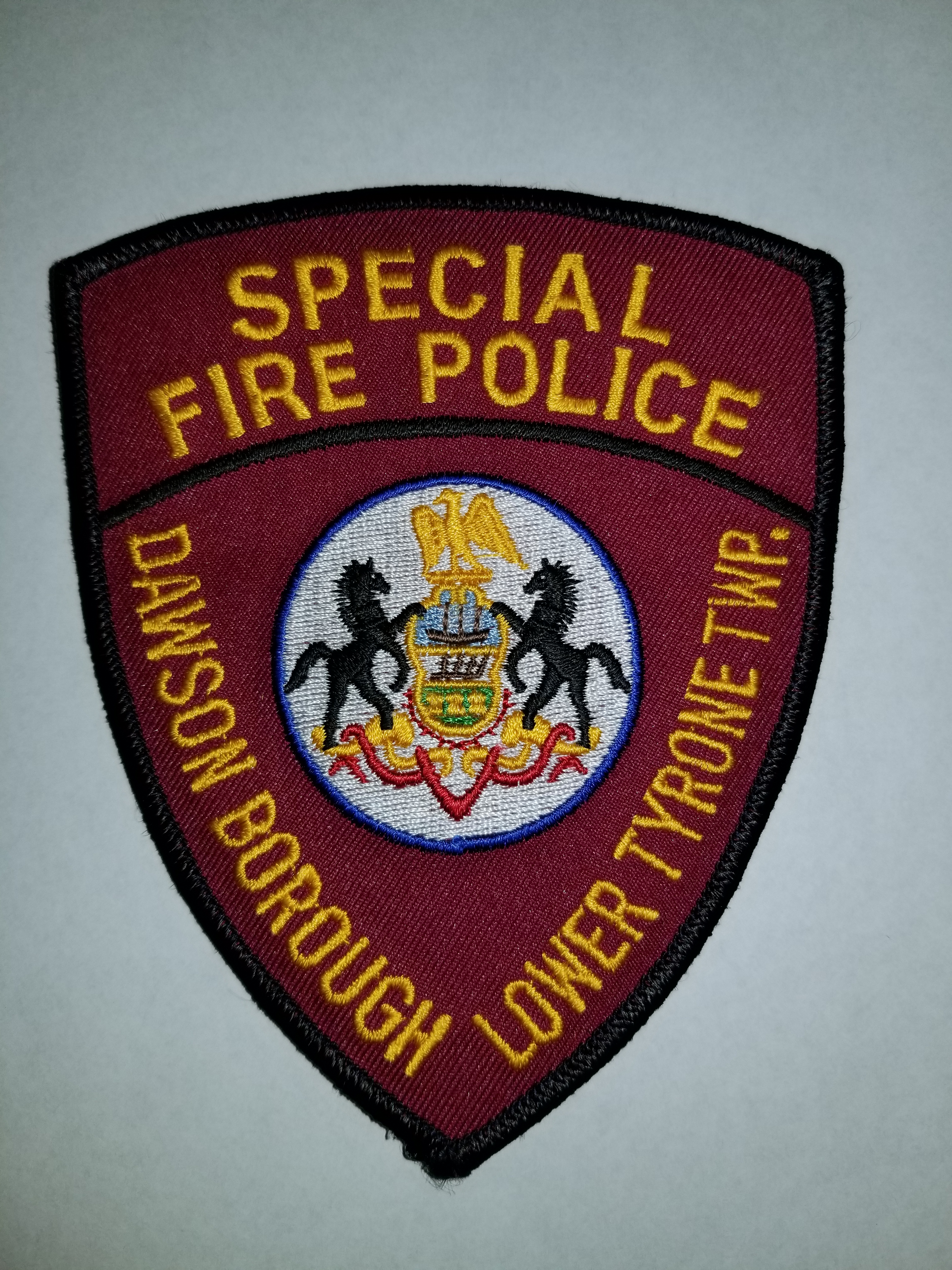 Dawson Borough Lower Tyrone Township PA Special Fire Police
